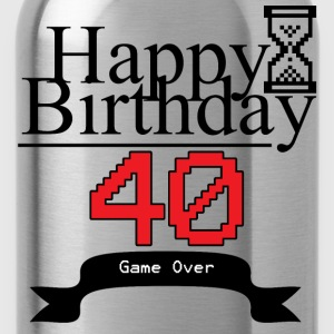 Happy 40 Birthday - Water Bottle