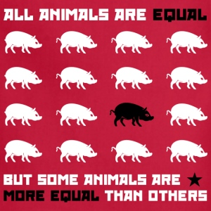 All animals are equal 2 (red) Women's T-Shirts - Adjustable Apron