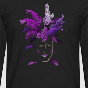 lilac face T-Shirts - Men's Premium Long Sleeve T-Shirt