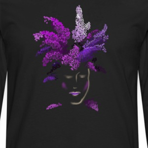 lilac face Women's T-Shirts - Men's Premium Long Sleeve T-Shirt