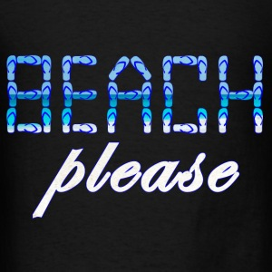 BEACH PLEASE blue - Men's T-Shirt