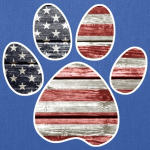 Patriotic Paw Print, American Flag Women's T-Shirts - Tote Bag