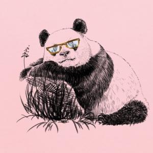 Panda with glasses Women's T-Shirts - Kids' Hoodie