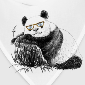 Panda with glasses Women's T-Shirts - Bandana