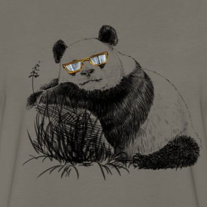 Panda with glasses T-Shirts - Men's Premium Long Sleeve T-Shirt
