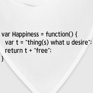 coding tee - function Happiness - Bandana