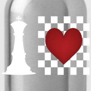 I heart Chess - Chess board with heart Hoodies - Water Bottle
