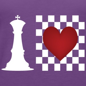 I heart Chess - Chess board with heart Hoodies - Women's Premium Tank Top