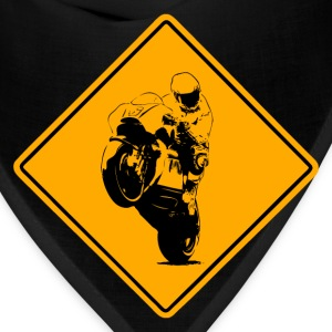 Motocycle Racer Road Sign T-Shirts - Bandana