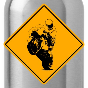Motocycle Racer Road Sign T-Shirts - Water Bottle