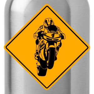 Motorcycle Racer Road Sign T-Shirts - Water Bottle