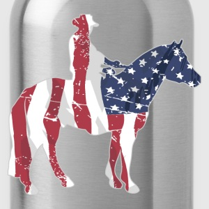 USA Cowboy Flag T-Shirts - Water Bottle