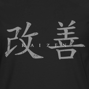 Kaizen (mixed characters)-horizontal - Men's Premium Long Sleeve T-Shirt