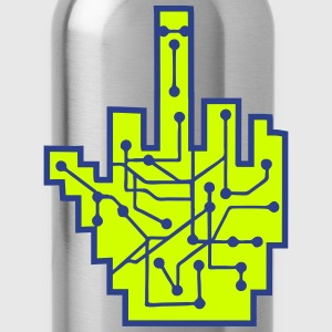 wichser middle finger stinkefinger fuck you off ev T-Shirts - Water Bottle