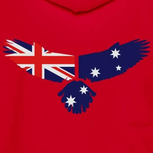Eagle - Australia Flag T-Shirts - Unisex Fleece Zip Hoodie by American Apparel