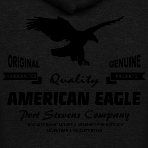 American Eagle T-Shirts - Unisex Fleece Zip Hoodie by American Apparel