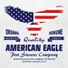 American Eagle - USA Flag T-Shirts - Men's T-Shirt by American Apparel