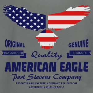 American Eagle - USA Flag T-Shirts - Unisex Fleece Zip Hoodie by American Apparel