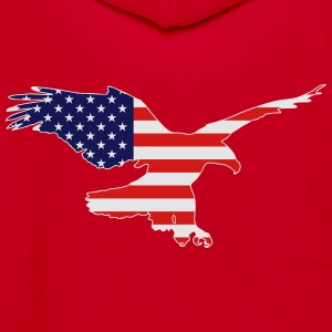 Eagle - USA Flag T-Shirts - Unisex Fleece Zip Hoodie by American Apparel