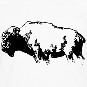 Bison -  Buffalo T-Shirts - Men's Premium Long Sleeve T-Shirt