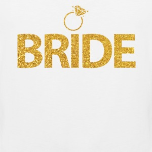 Bride Shirts With Ring Gold Sequins - Men's Premium Tank