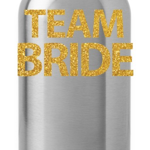 Black Team Bride Shirts With Gold Sequins - Water Bottle