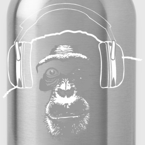 chimpanzee - music T-Shirts - Water Bottle