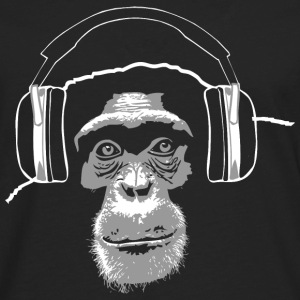 chimpanzee - music T-Shirts - Men's Premium Long Sleeve T-Shirt