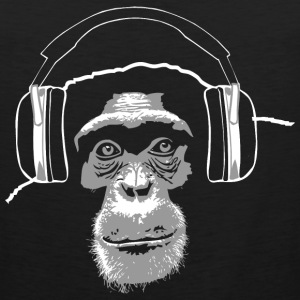 chimpanzee - music T-Shirts - Men's Premium Tank