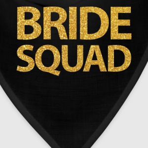 Black Bride Squad Shirts With Golden Sequins - Bandana