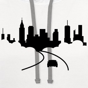 city T-Shirts - Contrast Hoodie