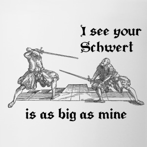Schwert is as big as mine women's black print - Coffee/Tea Mug