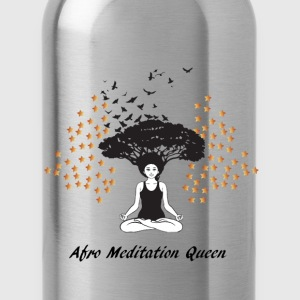 Afro Meditation Queen T-Shirts - Water Bottle