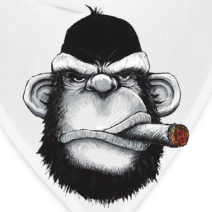 Gorilla Smoking Cigar - Bandana