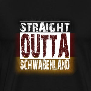 Straight Outta Schwaben Hoodies - Men's Premium T-Shirt