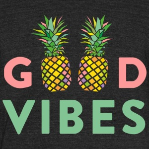 AD GOOD VIBES PINEAPPLES T-Shirts - Unisex Tri-Blend T-Shirt by American Apparel