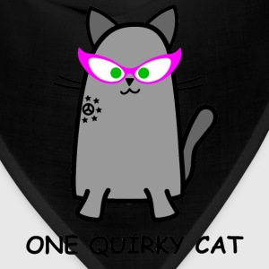 Quirky Cat T-Shirt - Bandana