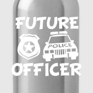 Future Police Officer funny baby boy shirt - Water Bottle