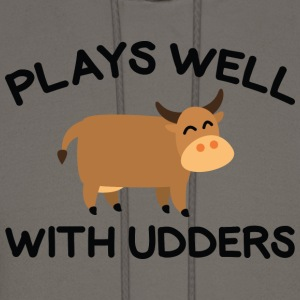 Plays Well With Udders - Men's Hoodie