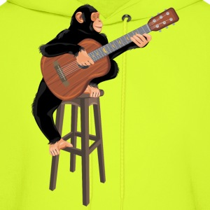 Monkey with acoustic guitar - Men's Hoodie