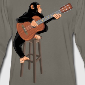 Monkey with acoustic guitar - Men's Premium Long Sleeve T-Shirt