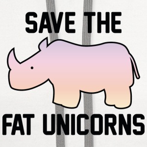 Save The Fat Unicorns - Contrast Hoodie
