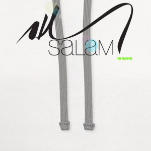 Salam Arabic Calligraphy T shirt by  THE PEACEFUL - Contrast Hoodie
