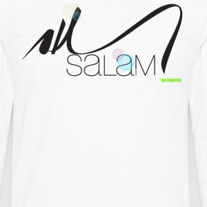 Salam Arabic Calligraphy T shirt by  THE PEACEFUL - Men's Premium Long Sleeve T-Shirt