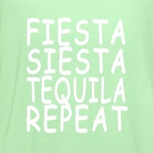 fiesta_siesta_tequila_repeat_ - Women's Flowy Tank Top by Bella