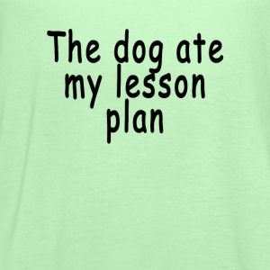 the_dog_ate_my_lesson_plan_ - Women's Flowy Tank Top by Bella
