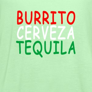 burrito_cerveza_tequila - Women's Flowy Tank Top by Bella