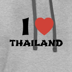 I Love Thailand T-Shirt - Contrast Hoodie