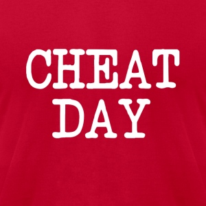 Cheat Day funny diet shirt - Men's T-Shirt by American Apparel