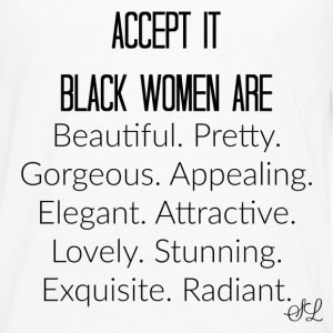 Empowered Black Women Are Beautiful T-shirt Saying - Men's Premium Long Sleeve T-Shirt